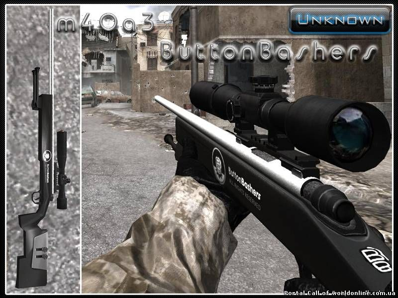 CoD4  M40A3 ButtonBashers